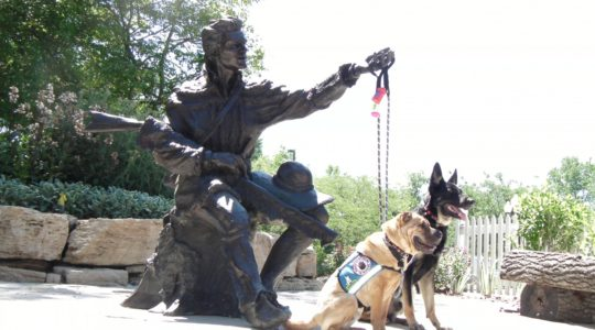 Buster and Ty with Daniel Boone - St. Charles MO