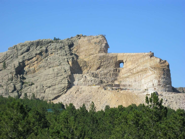 View of Crazy Horse Memorial - South Dakota