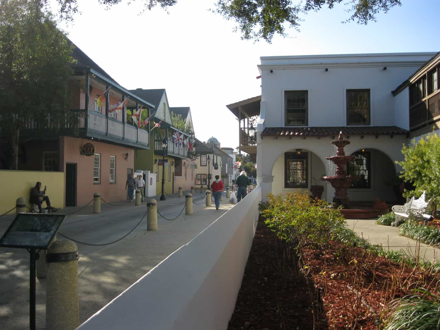 View of downtown St. Augustine, FL