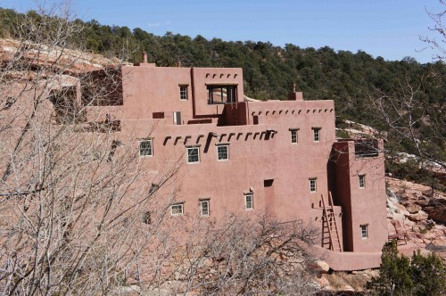 Pueblo-style Museum at Manitou Springs Cliff Dwellings