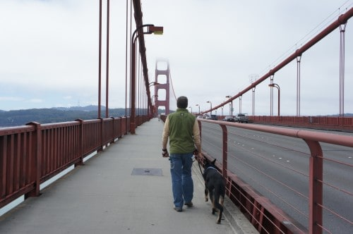Rod and Buster on Bridge