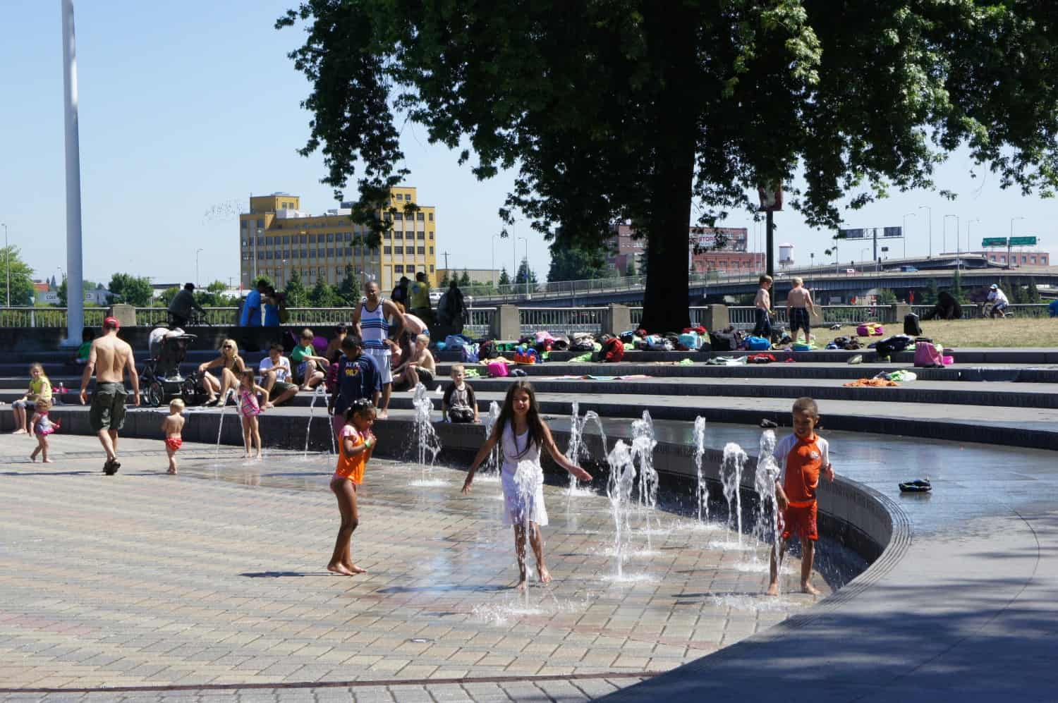 Kids In Fountain - Portland, Oregon