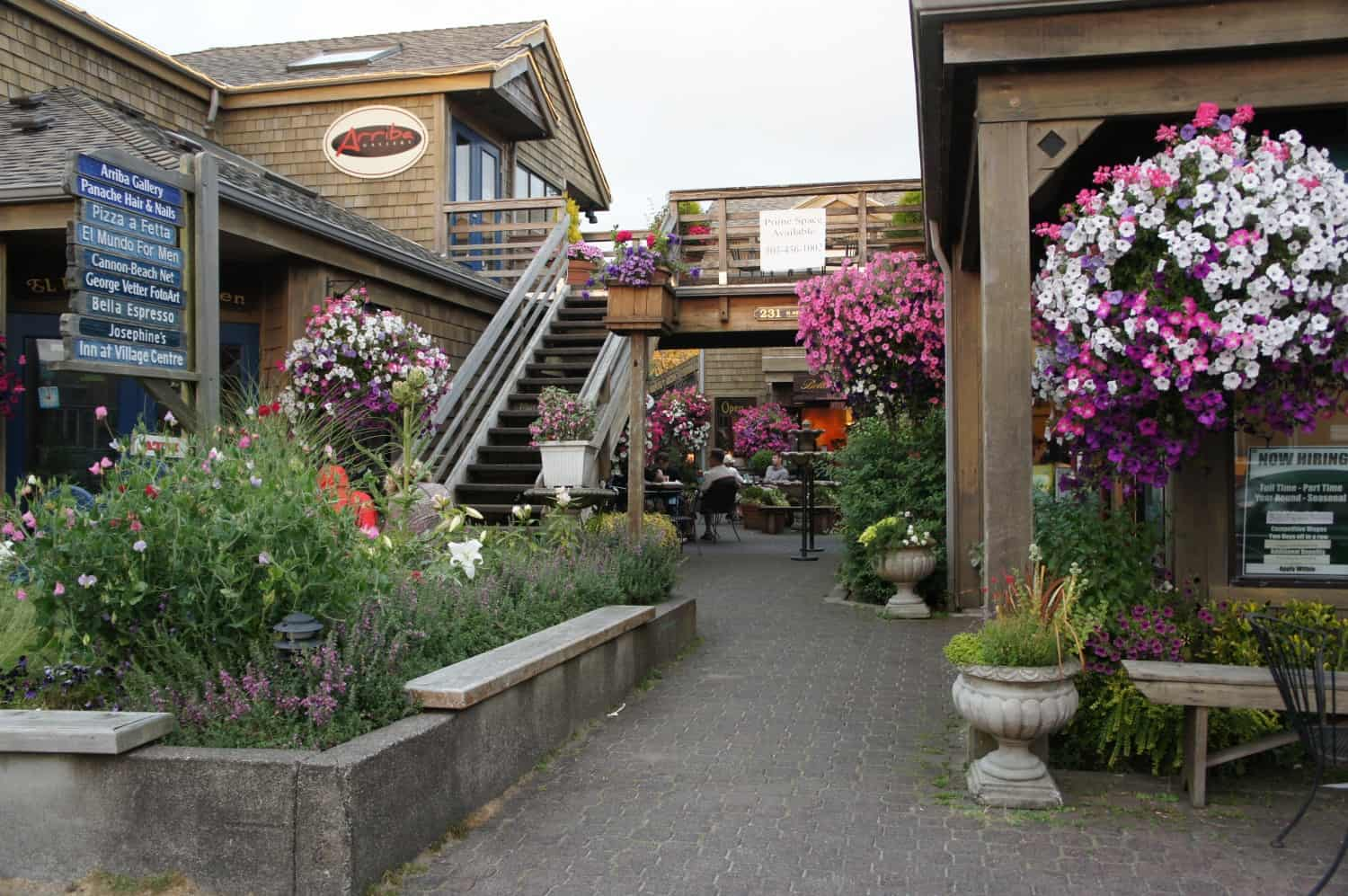 Shops on Hawthorne Street - Cannon Beach, Oregon