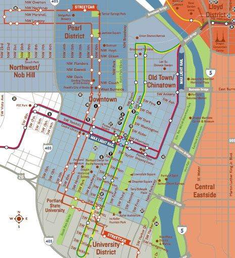 Downtown Portland Map