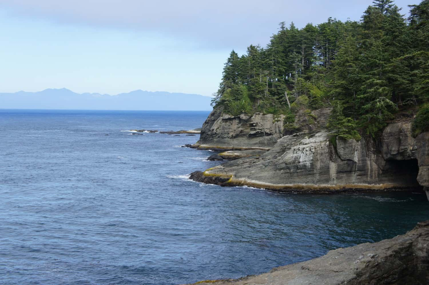 View of the Strait of Juan de Fuca from Cape Flattery, WA