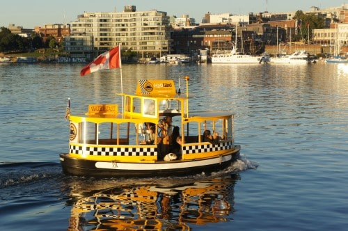 Ferry in the Harbor - Victoria, BC