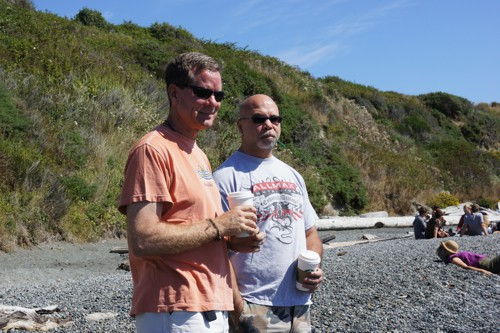 Rod and Jim on the Beach - Victoria, BC