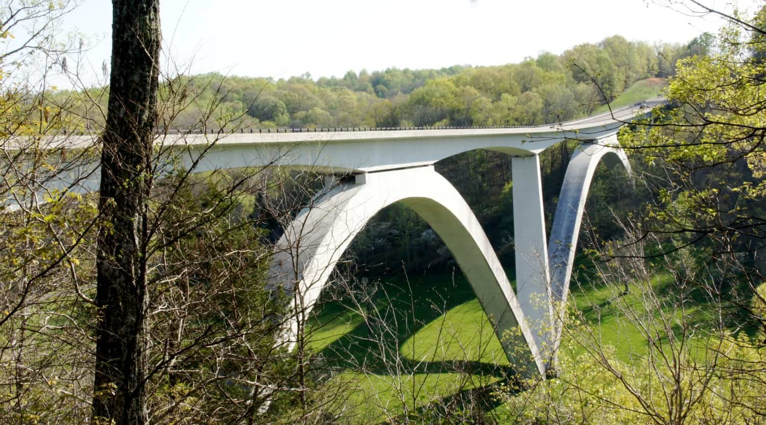 Birdsong Hollow Double Arch Bridge - Natchez Trace Parkway