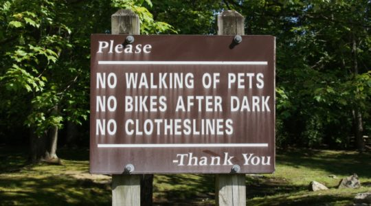 No Walking Of Pets Sign