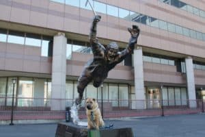 Ty with Bobby Orr - Boston, MA