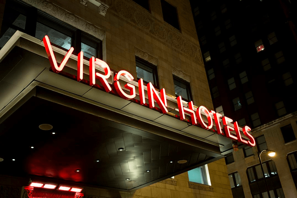 Virgin Hotel in Chicago, IL - one of the pet-friendly hotel chains where pets stay free!