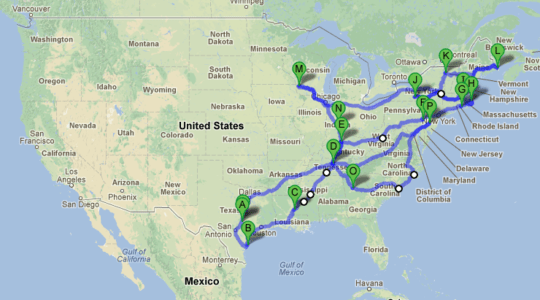 GPF 2012 Travel Map