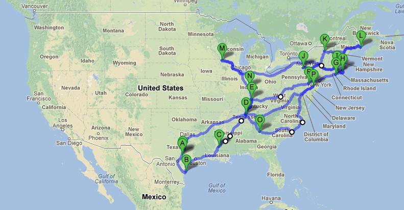 GPF 2012 Travel Map