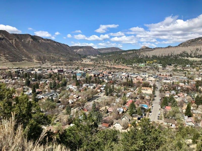 Panoramic view of Durango, CO