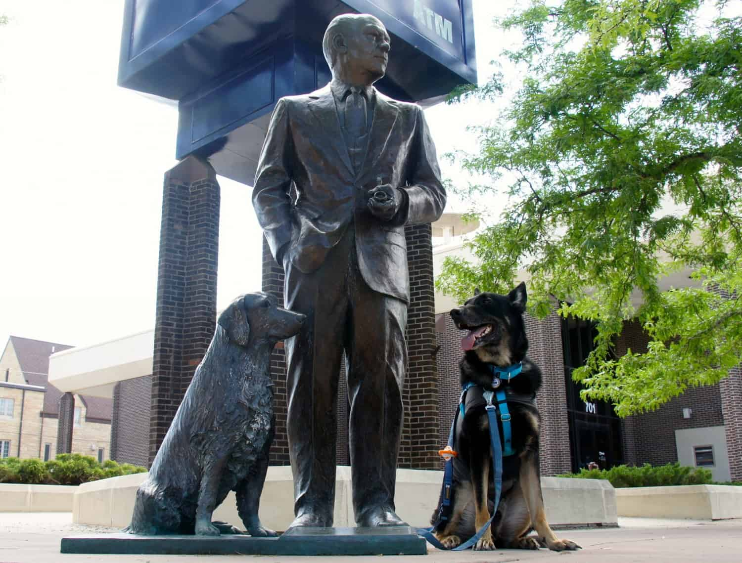 Buster poses with President Ford - Rapid City, SD