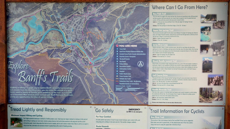 Trails in Banff, AB