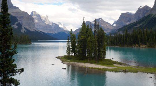 Spirit Island at Maligne Lake - Jasper, AB