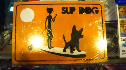 SUP Dog Sign