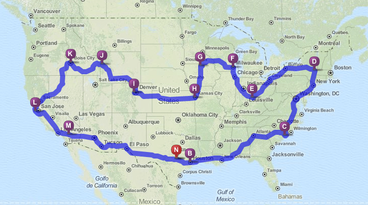 GoPetFriendly.com's 2014 Travel Map