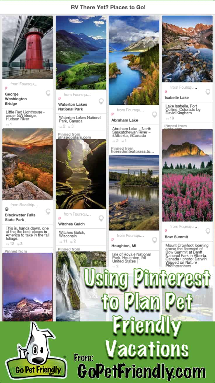 Tips for Using Pinterest to Plan Pet Friendly Vacations