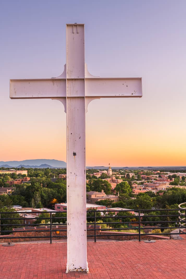 Cross of the Martyrs overlooking Santa Fe, NM