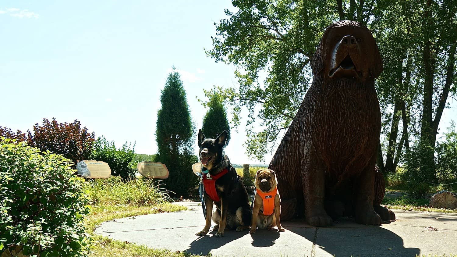 Buster and Ty with Seaman - Fort Mandan, Washburn, ND