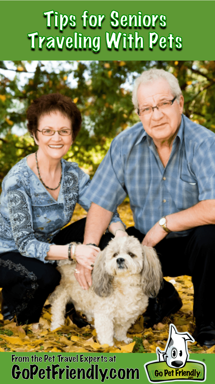 Tips for Seniors Traveling with Pets from the Pet Travel Experts at GoPetFriendly.com