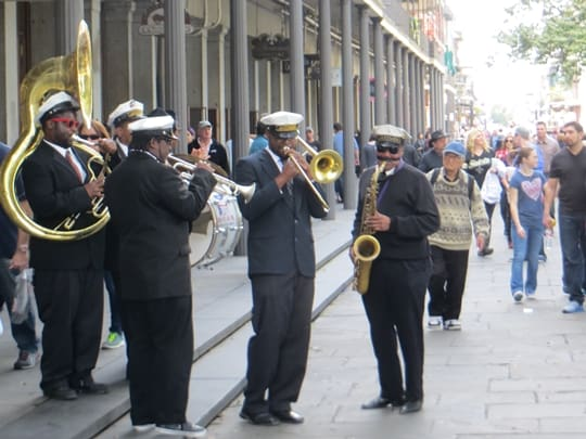 Marching band near Jackson Square - New Orleans, LA