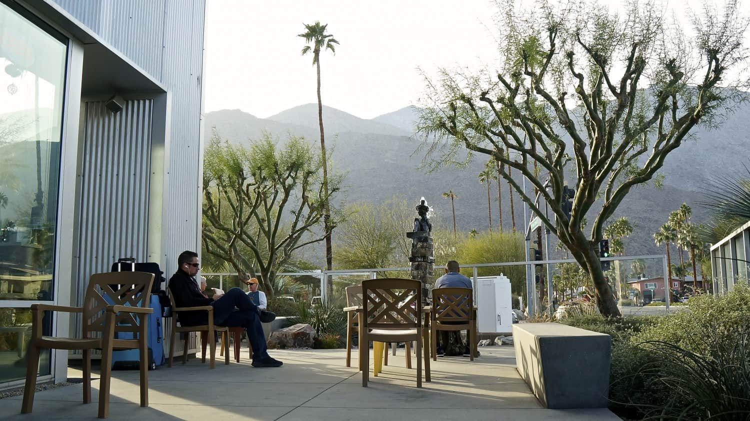 Pet friendly patio at Koffi in Palm Springs, CA