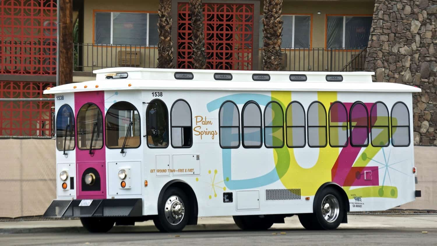 The pet-friendly Buzz Trolley in Palm Springs, CA