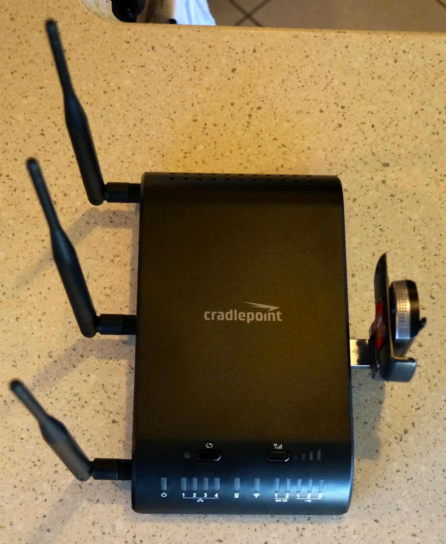 Cradlepoint router with modem in GoPetFriendly.com Motorhome