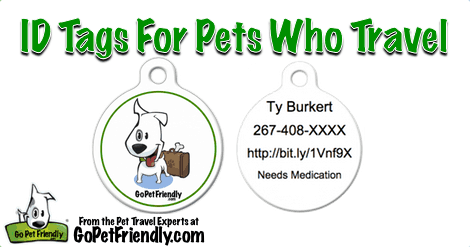 ID Tags for Pet Who Travel from the Pet Travel Experts at GoPetFriendly.com
