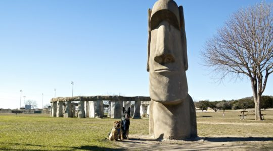 Stonehenge II and Easter Island Heads - Ingram, TX