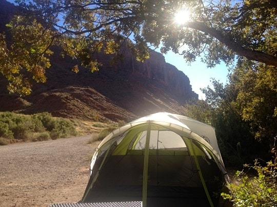 Camping in Moab, UT