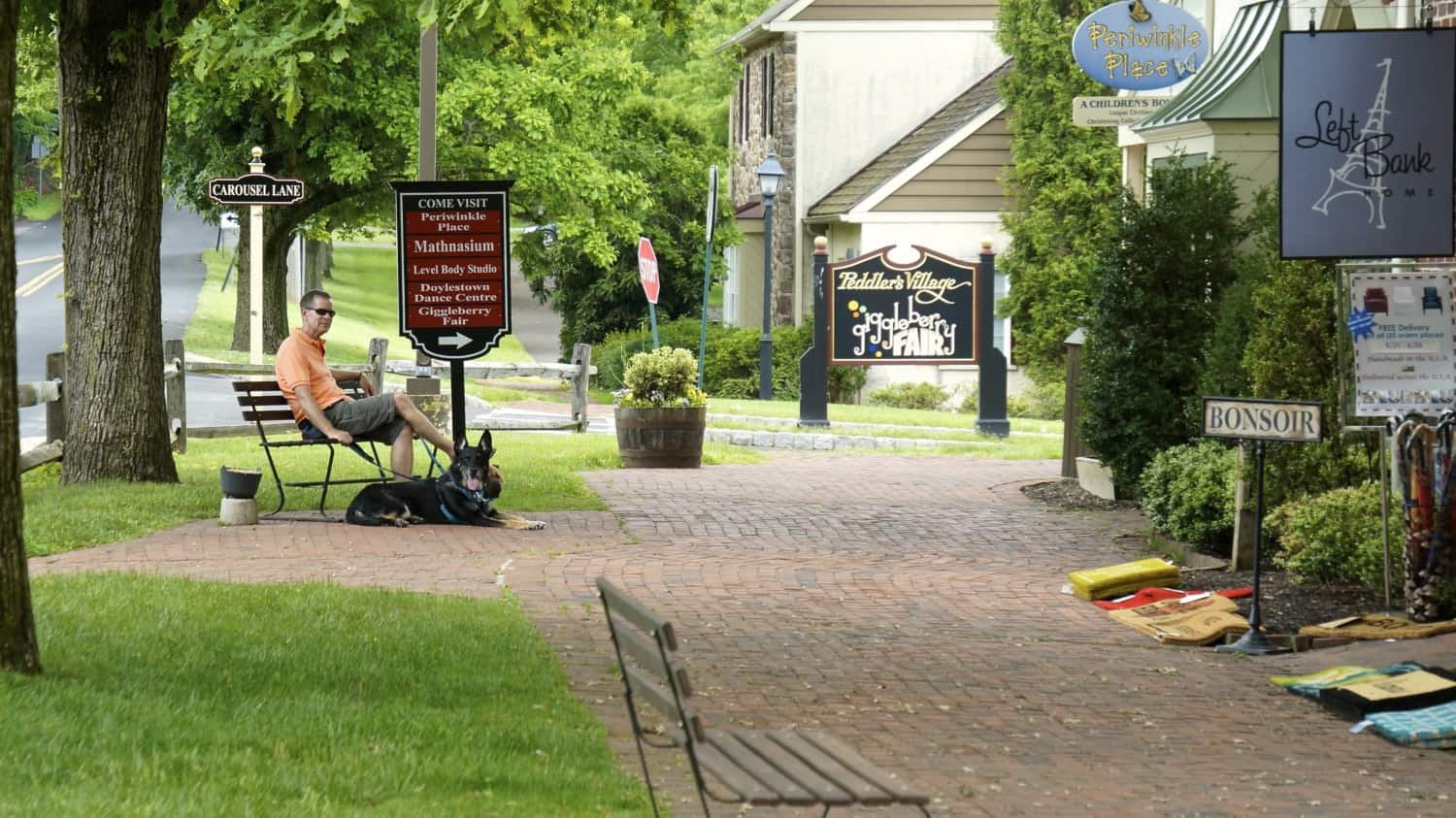 Dog Friendly Peddlers Village - Bucks County, PA