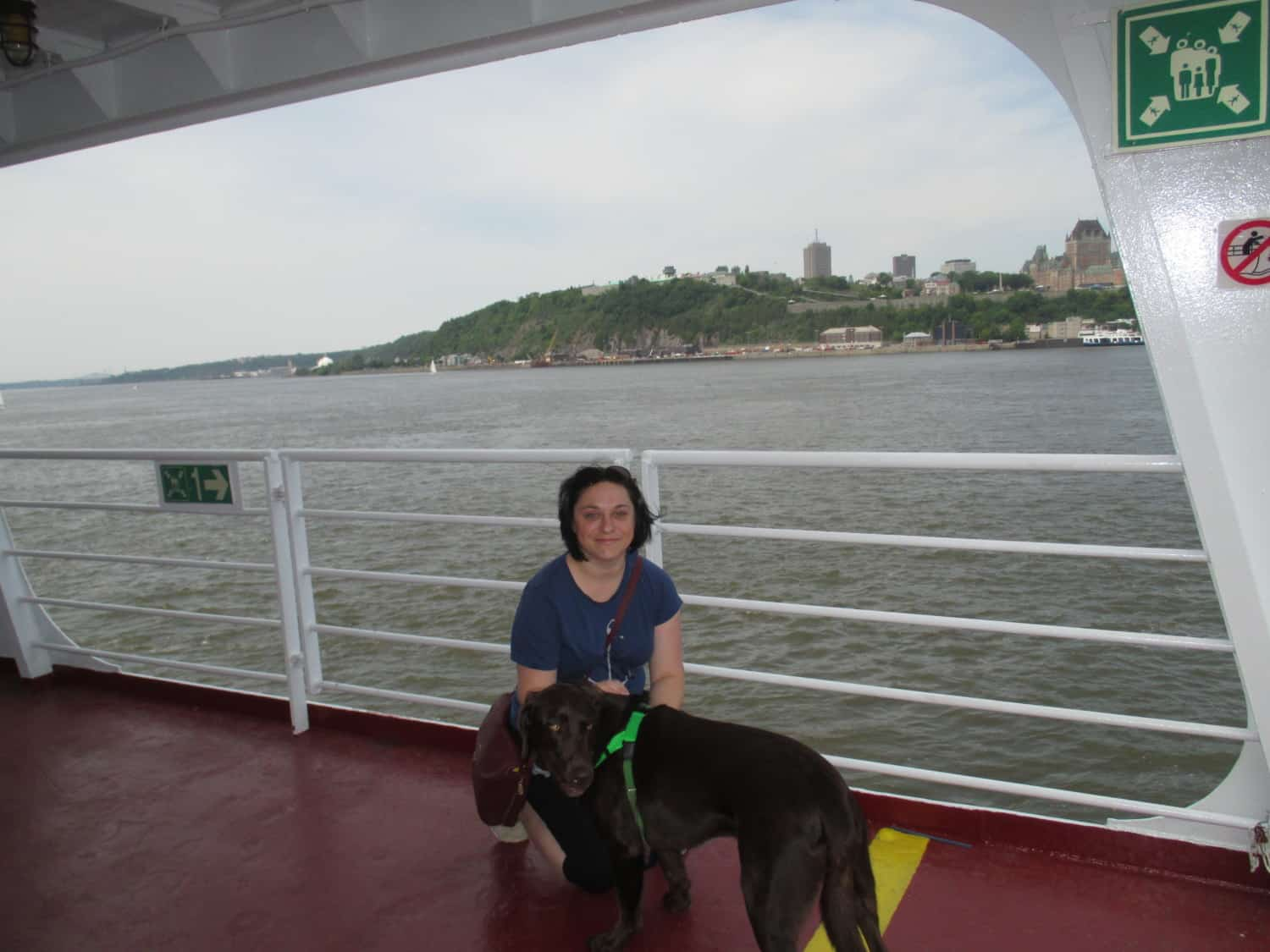 Finlay on the Ferry - Quebec, CA