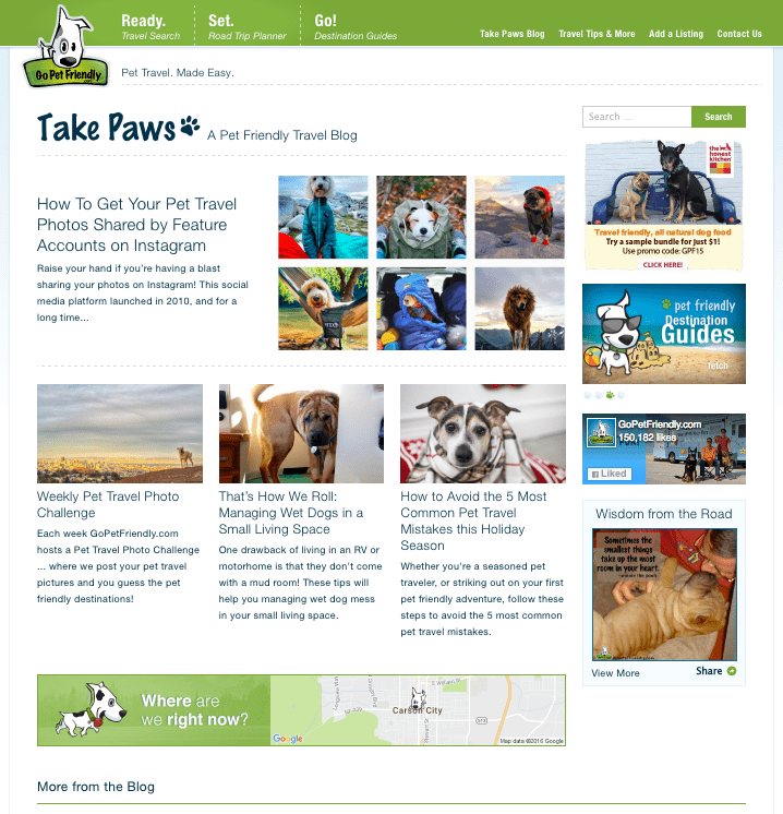 GoPetFriendly.com Relaunch Announcement