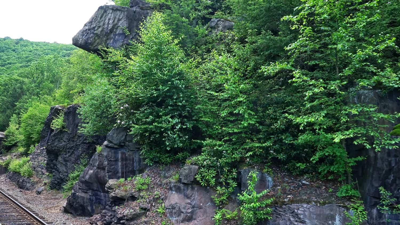 Scenery along the Lehigh Gorge Scenic Railway in Jim Thorpe, PA