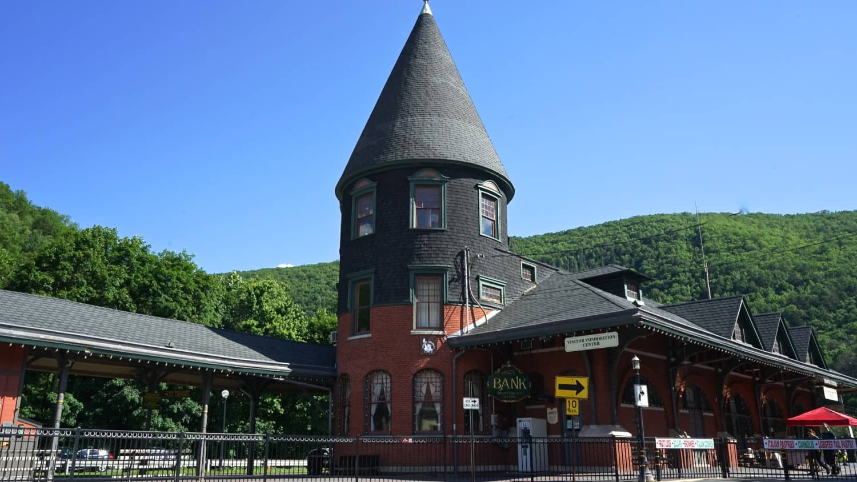 Historic train depot in Jim Thorpe, PA