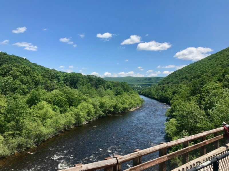 The Lehigh River from the scenic railway