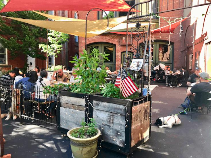Dog friendly patio at Marion Hose Bar in Jim Thorpe, PA