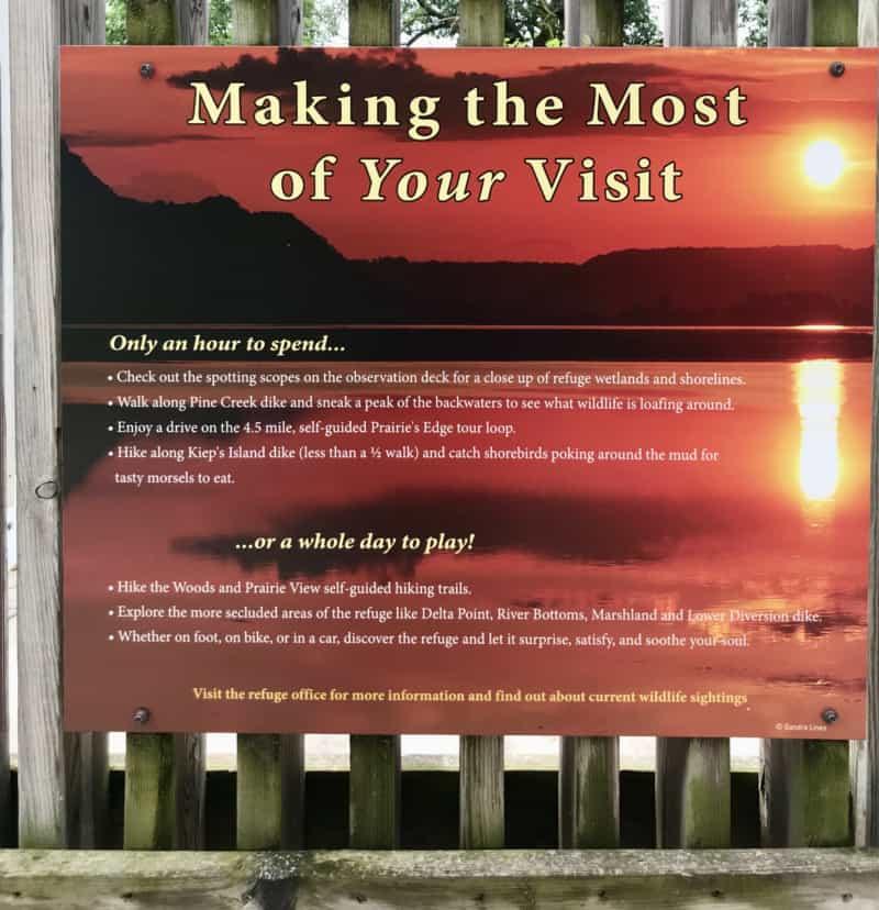 Sign at Trempealeau National Wildlife Refuge