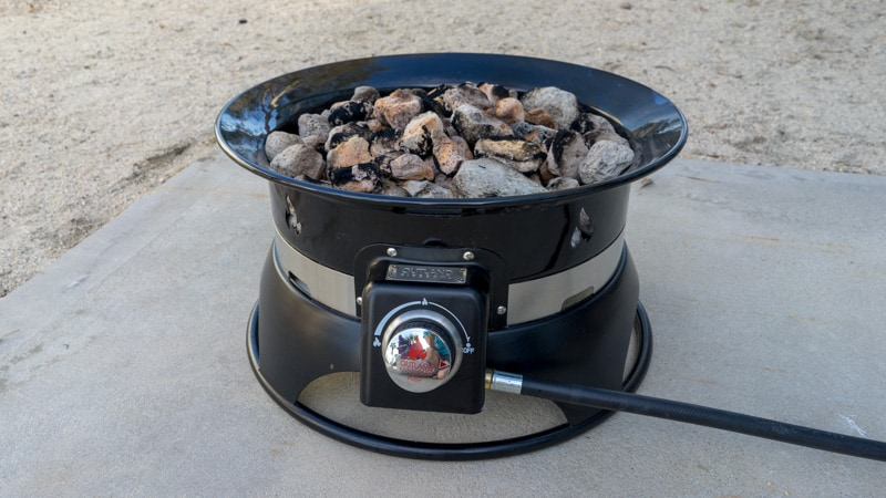 Hooking Up A Propane Fire Pit To An RV Quick-Connect | GoPetFriendly.com