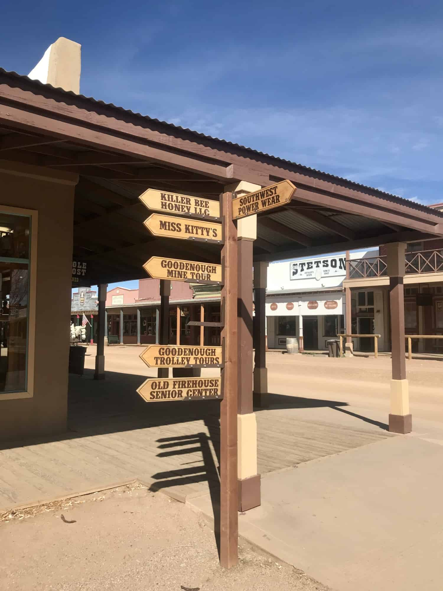 Street sign in Tombstone, AZ