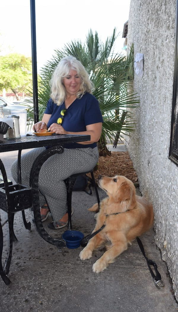 Dining with Honey in St. Simons Island, Georgia.