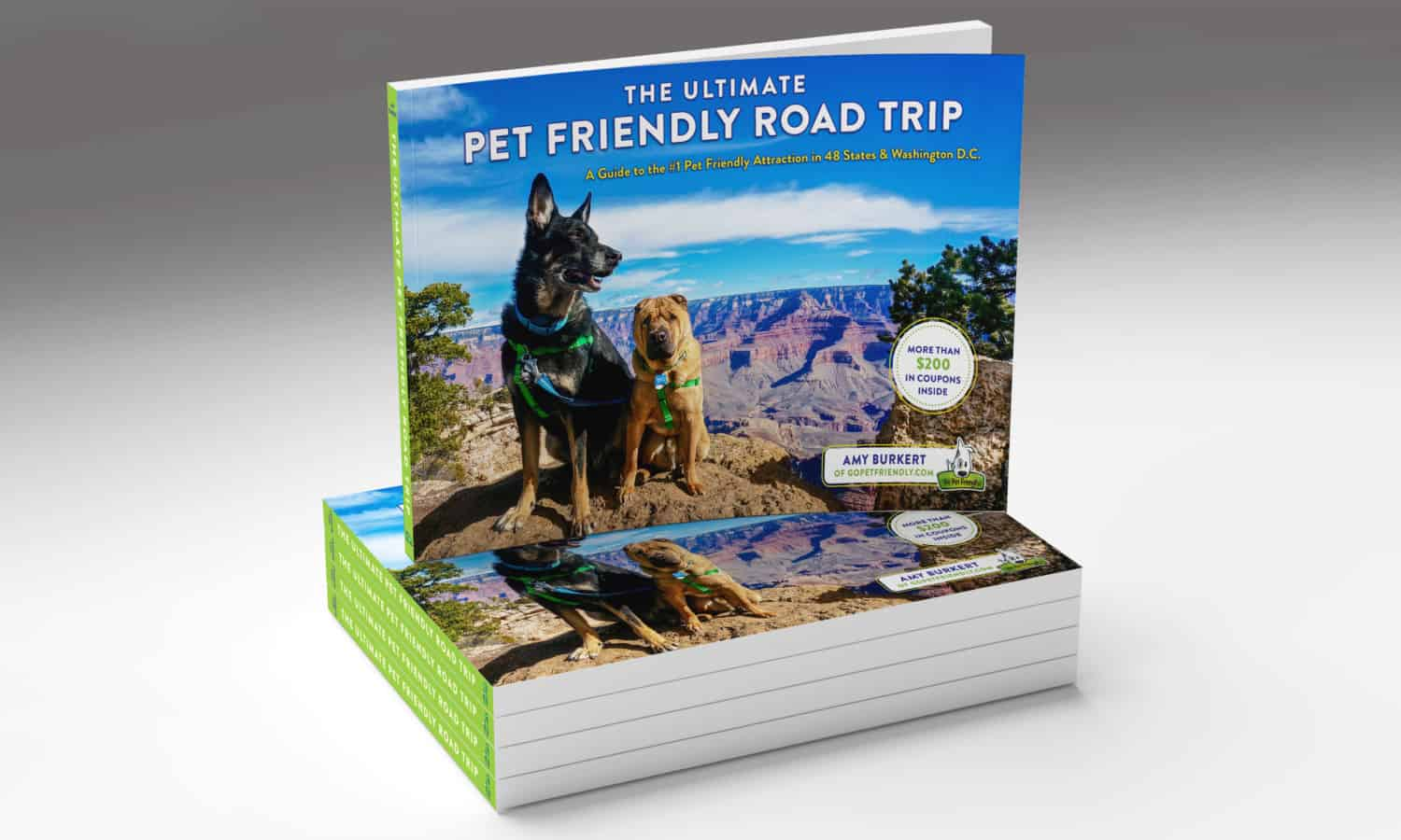The Ultimate Pet Friendly Road Trip Cover Mockup | GoPetFriendly.com
