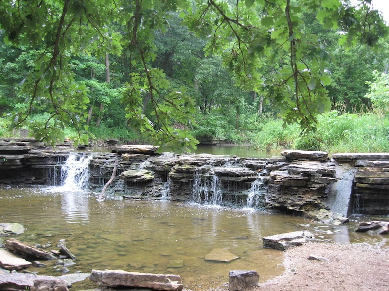 Waterfall at Waterfall Glen Forest Preserve