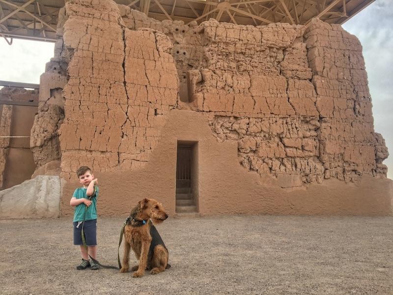 Casa Grande Ruins Dog Friendly National Park in Arizona