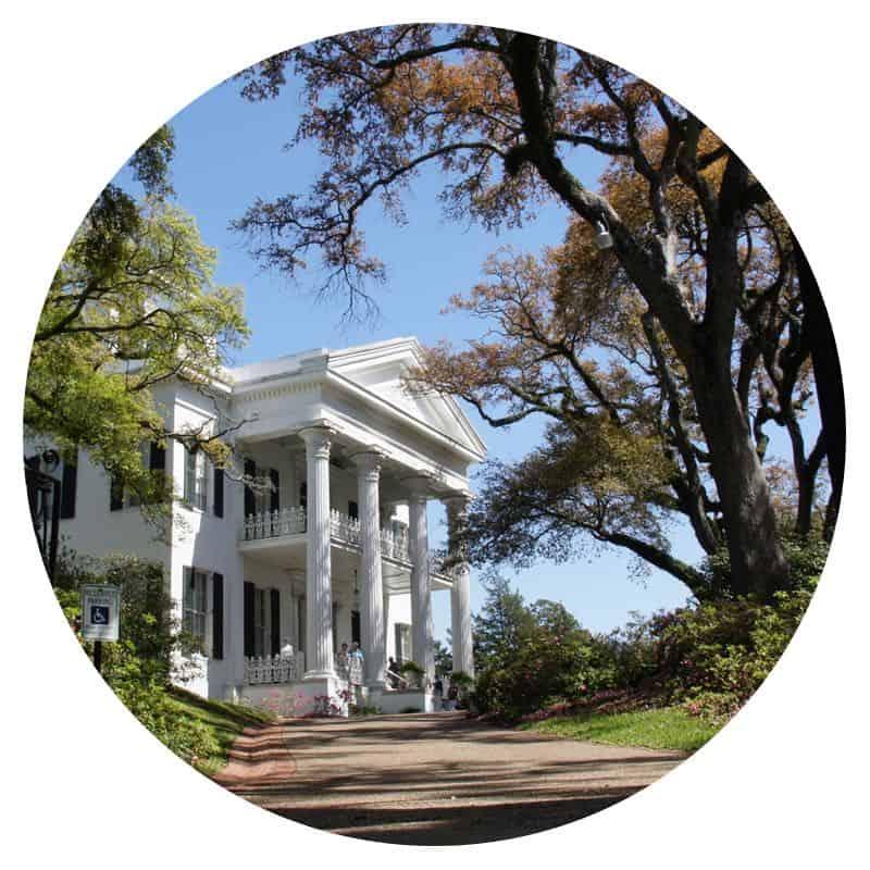 Historic mansion in Natchez, MS