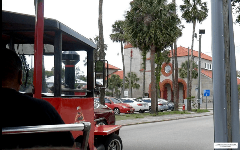 Dexter the Cocker Spaniel dog on the pet friendly Red Train Tour in St. Augustine, Florida